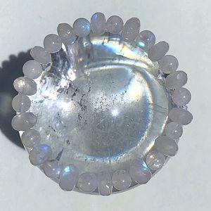Jewelry - NEW! Authentic Rainbow Moonstone Gem Bracelet!